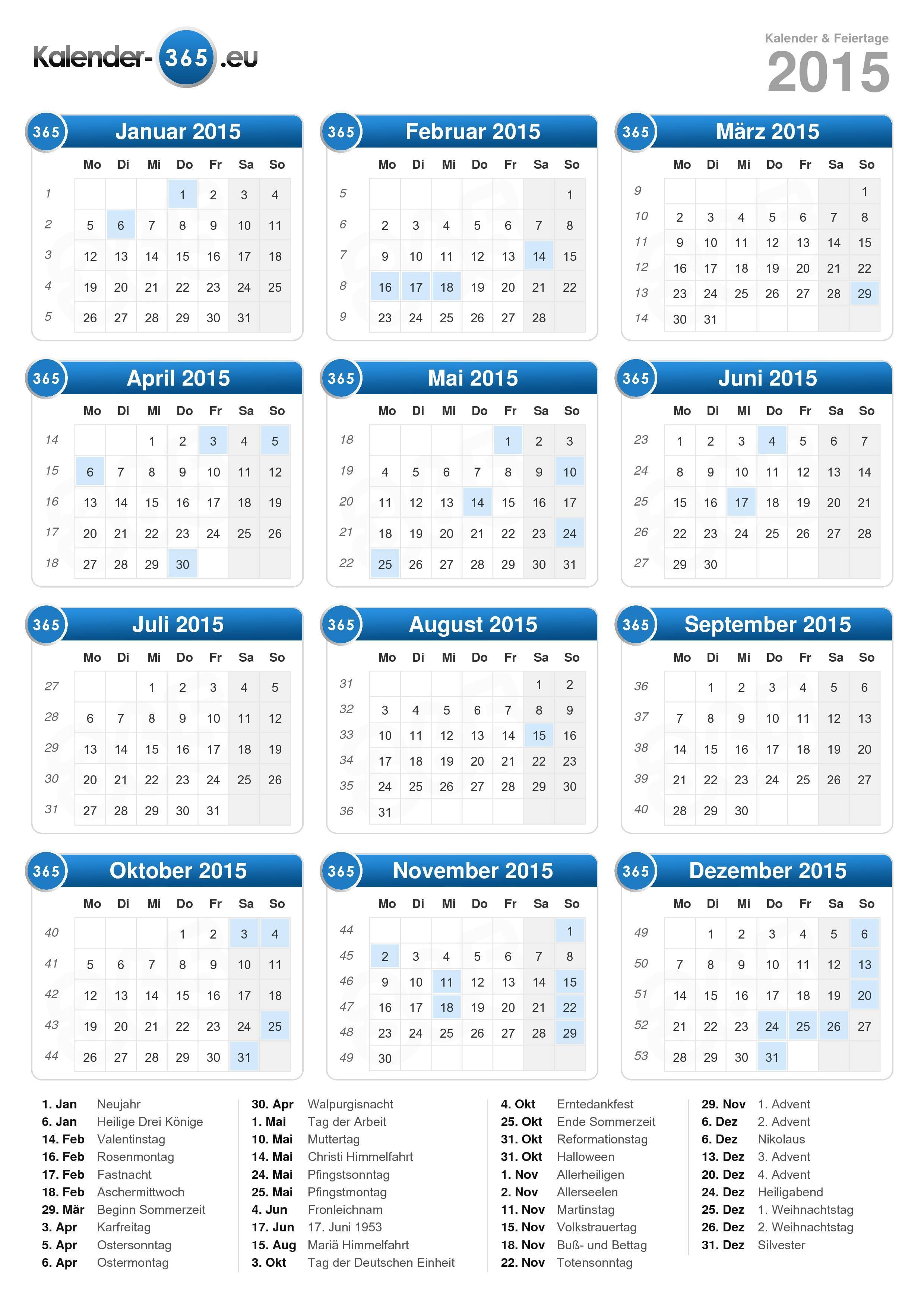 Kalender 2015 In Kalender 2015