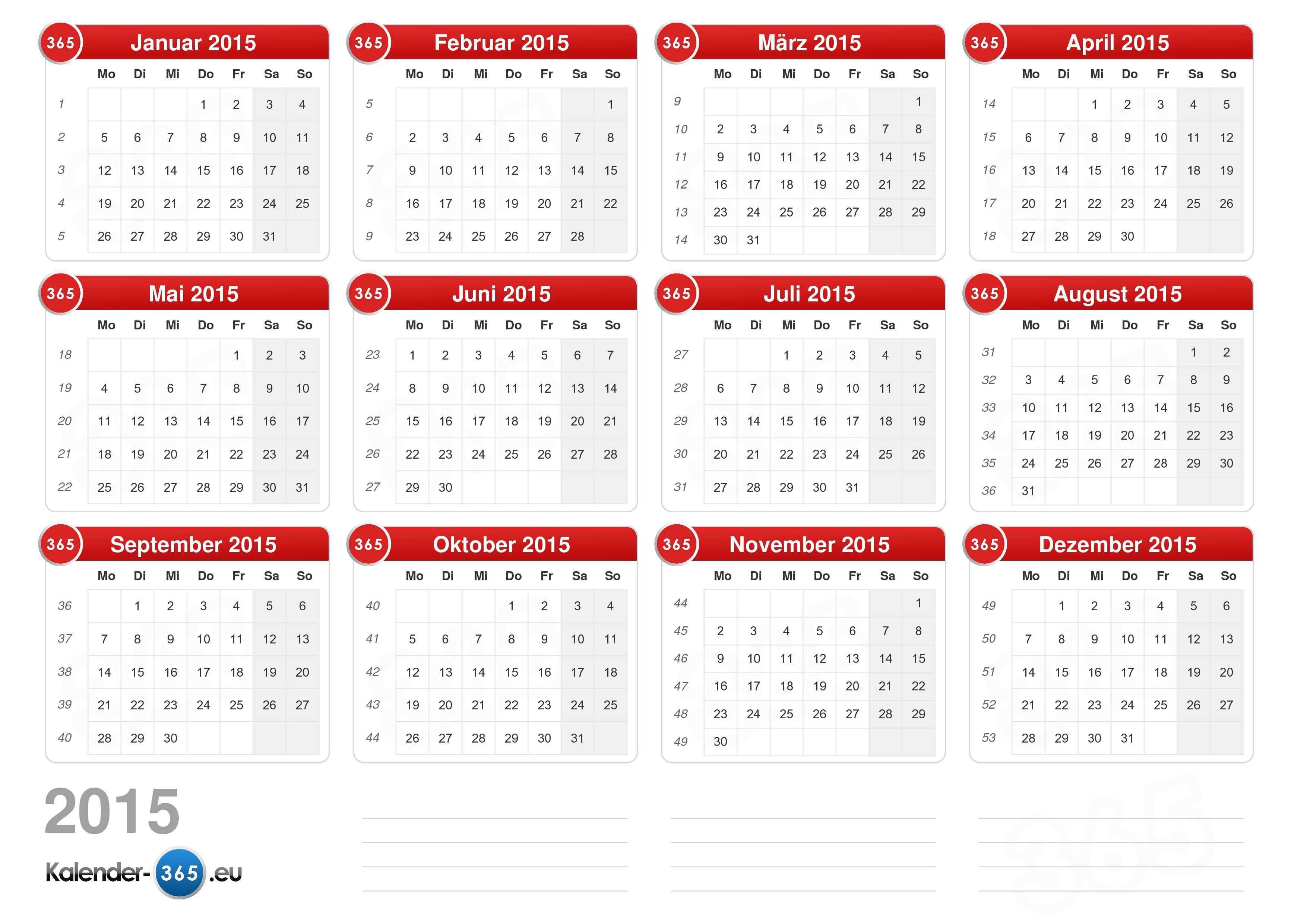 Jahreskalender 2015 Kasare Annafora Co