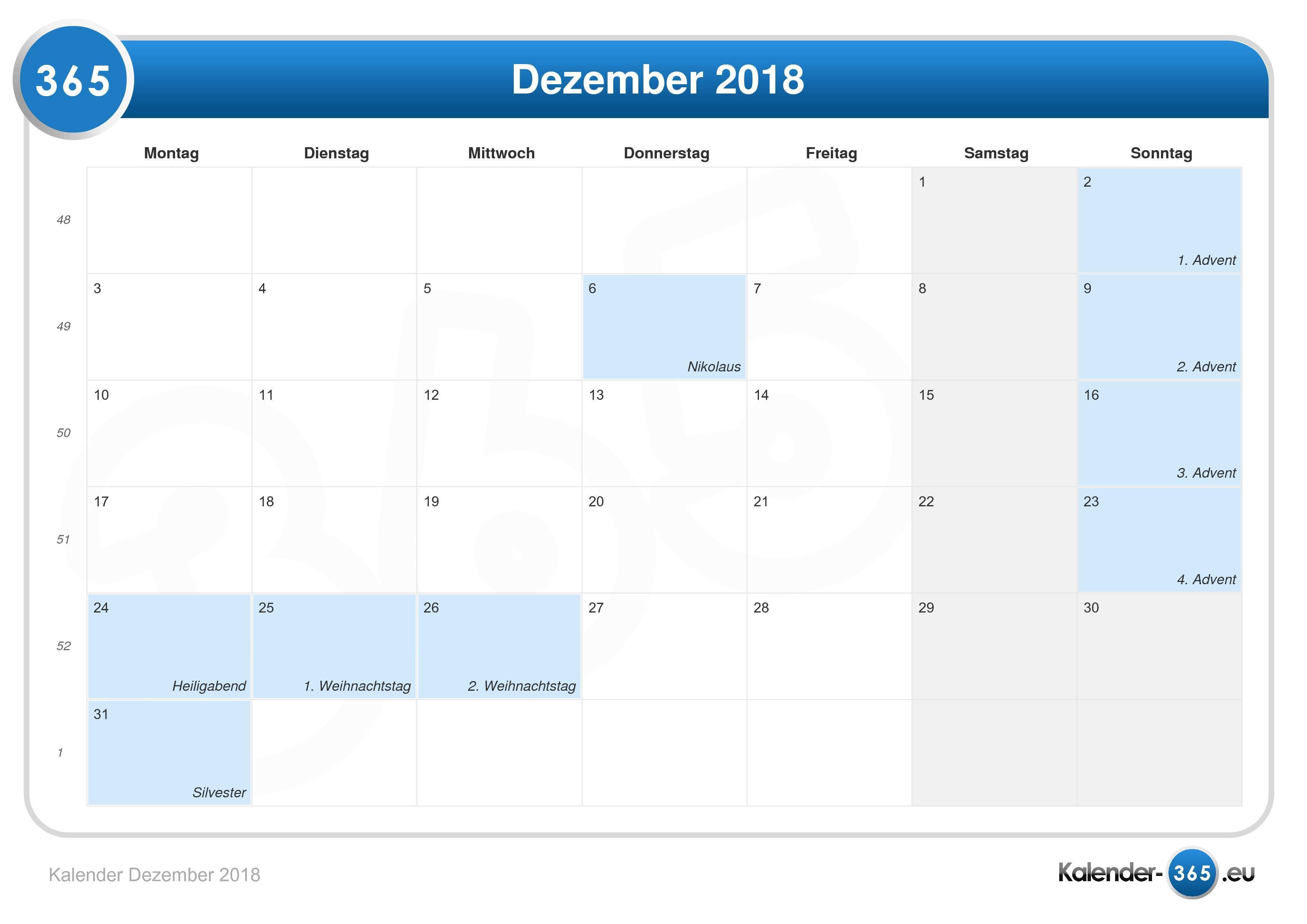 1 Weihnachtsfeiertag 2018
