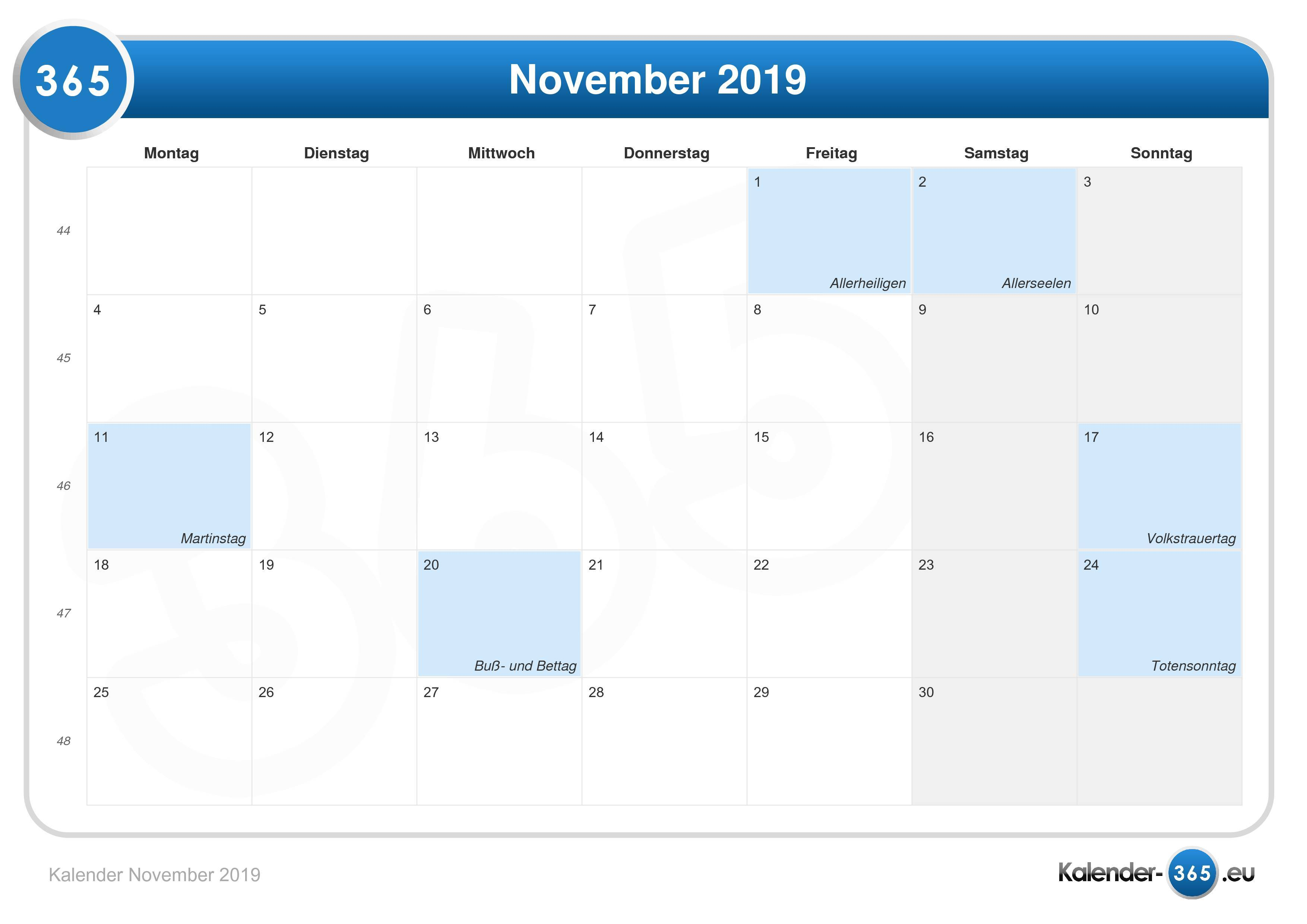 Kalender 2019 Mai